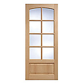 LPD Doors Worthing Oak 8 Panel Glazed Interior Door - 198.1 cm H x 76.2 cm W x 3.5 cm D