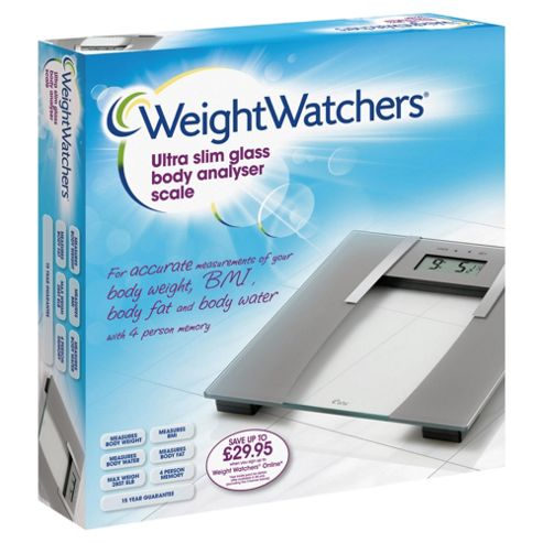 Buy Weight Watchers Glass Analyser Bathroom Scale From Our Bathroom Scales Range