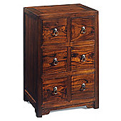 Shimu Chinese Classical Small Herbalist Chest - Warm Elm