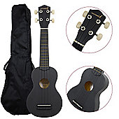 Rocket Soprano Ukulele inc Bag - Black