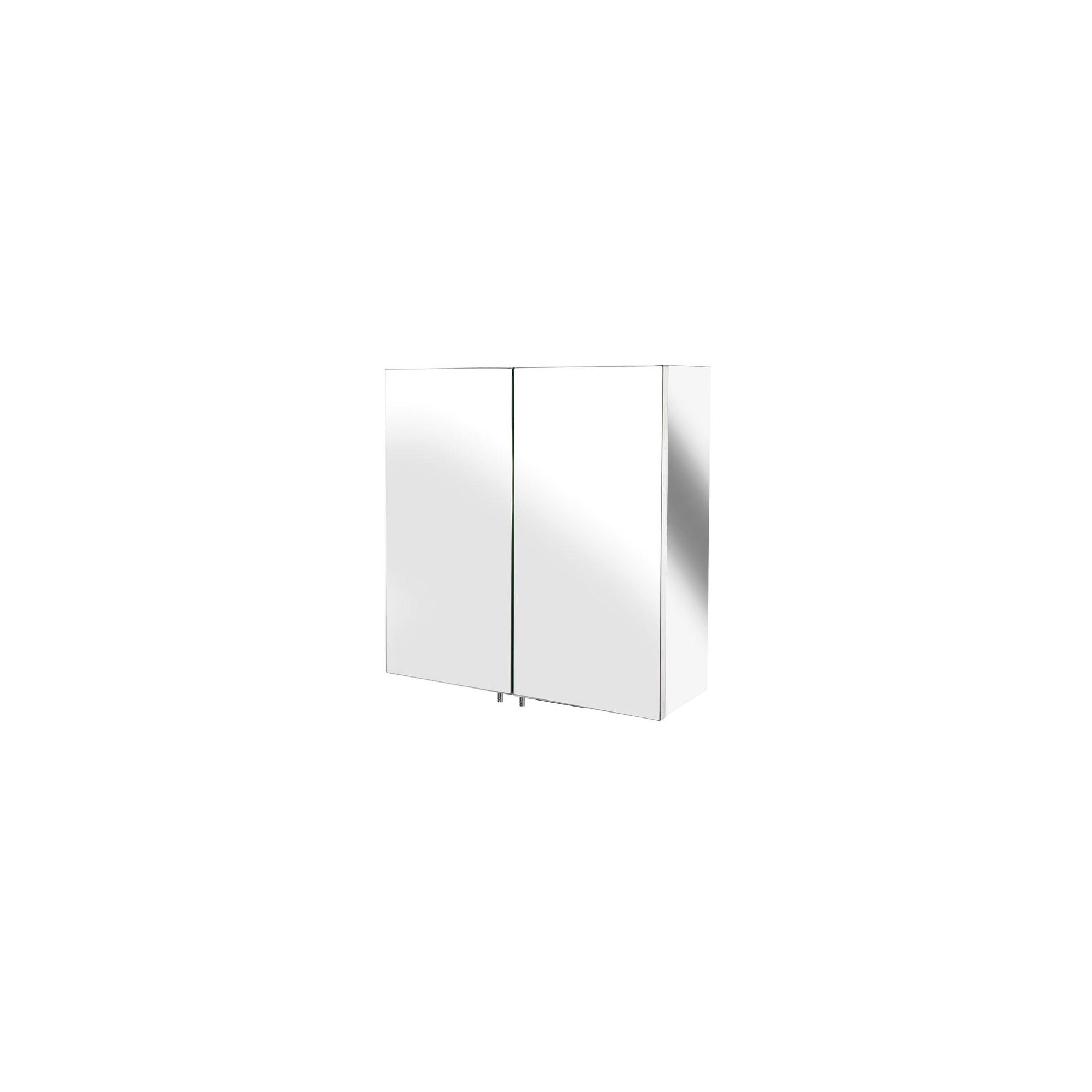 Croydex Avon Small Double Door Stainless Steel Bathroom Cabinet