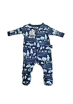 In the Night Garden Baby Boy Zip All in One Navy and Light Blue - Navy & sky blue