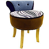 Soleil - Stool / Low Back Chair With Wood Legs - Black / White / Brown / Grey