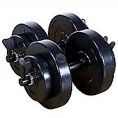 Marcy 18kg (40lb) Vinyl Dumbell Weight Set