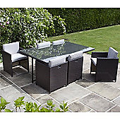 BillyOh Rosario Flat Weave Rattan 6 Seater Cube Dining Set Range - Includes Cushions