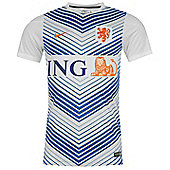 2014-15 Holland Nike Pre-Match Training Jersey (White) - White