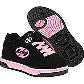 Heelys X2 Dual Up - Black/Pink - Size - Junior UK 11 - Black
