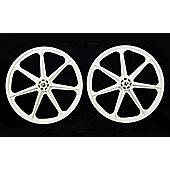 """Skyway 24"""" Tuff White BMX Cruiser Wheelset"""