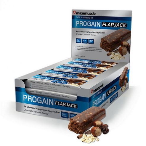 Progain Flapjack Bar 12x90g Chocolate & Hazelnut