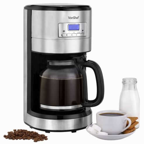 Buy VonShef 1000W Programmable Digital Filter Coffee Maker from our Filter Coffee Machines range ...