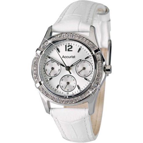 Accurist Ladies Leather Multifunction Watch - LS264PX