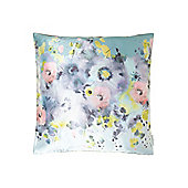 Pied A Terre Digital Print Floral Cushion, Grey