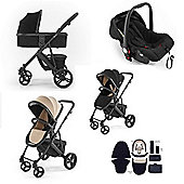 Tutti Bambini Riviera Plus 3 in 1 Black Travel System - Black/Taupe