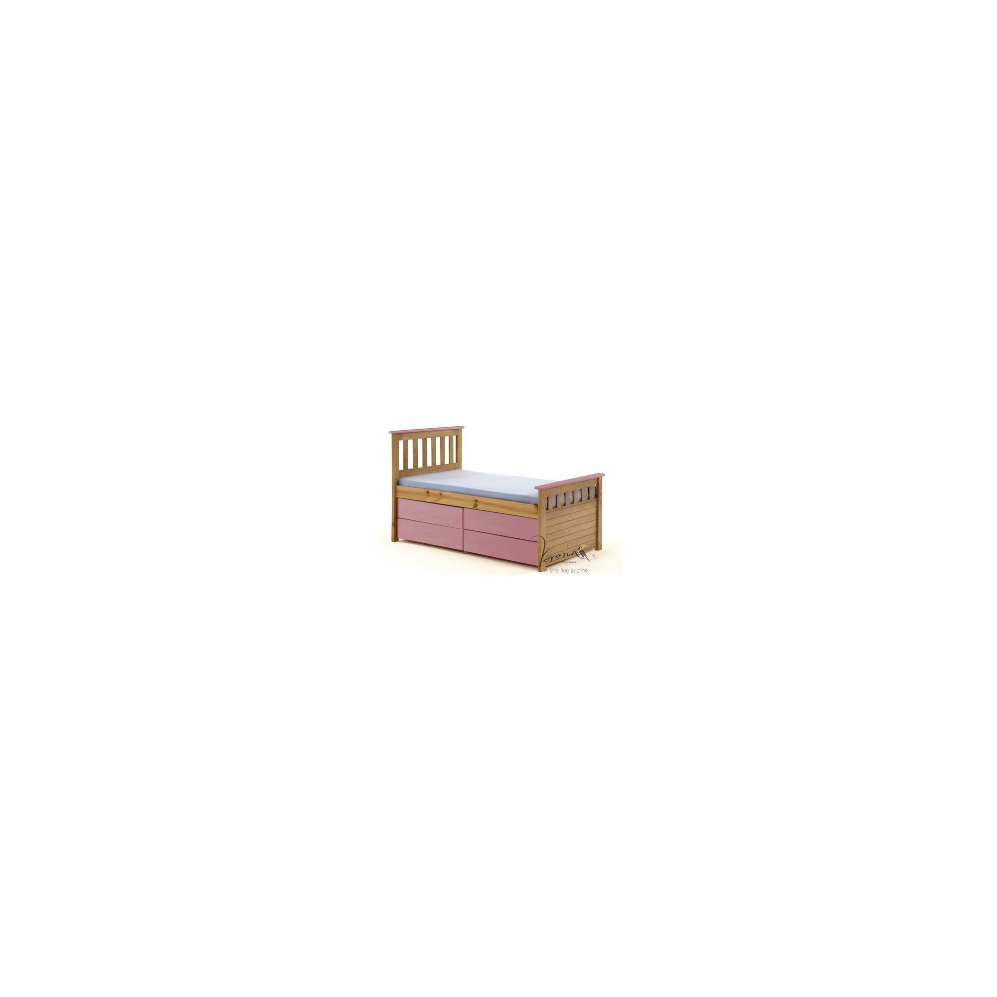 Verona Ferrara Kids Captains Bed with Underbed Storage - Antique Pink at Tescos Direct
