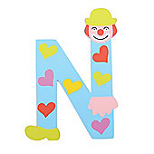 Tatiri Crazy Clown Letter N ((Blue) Hearts)