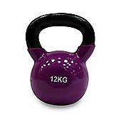 Body Power 12kg Vinyl Coated Kettle Bell (x1)