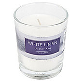 Tesco White Linen Candle in a Jar