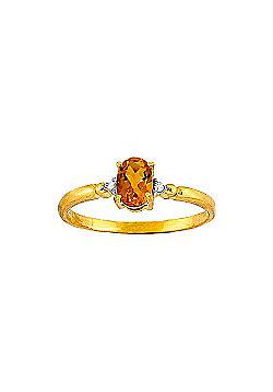 QP Jewellers Diamond & Citrine Allure Ring in 14K Gold
