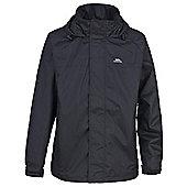 Trespass Mens Nabro Waterproof Rain Jacket - Black