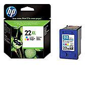 HP 22XL High Capacity Tri-Colour Inkjet Print Cartridge