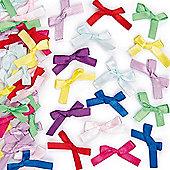 Craft Self-Adhesive Satin Ribbon Bows (Pack Of 72)