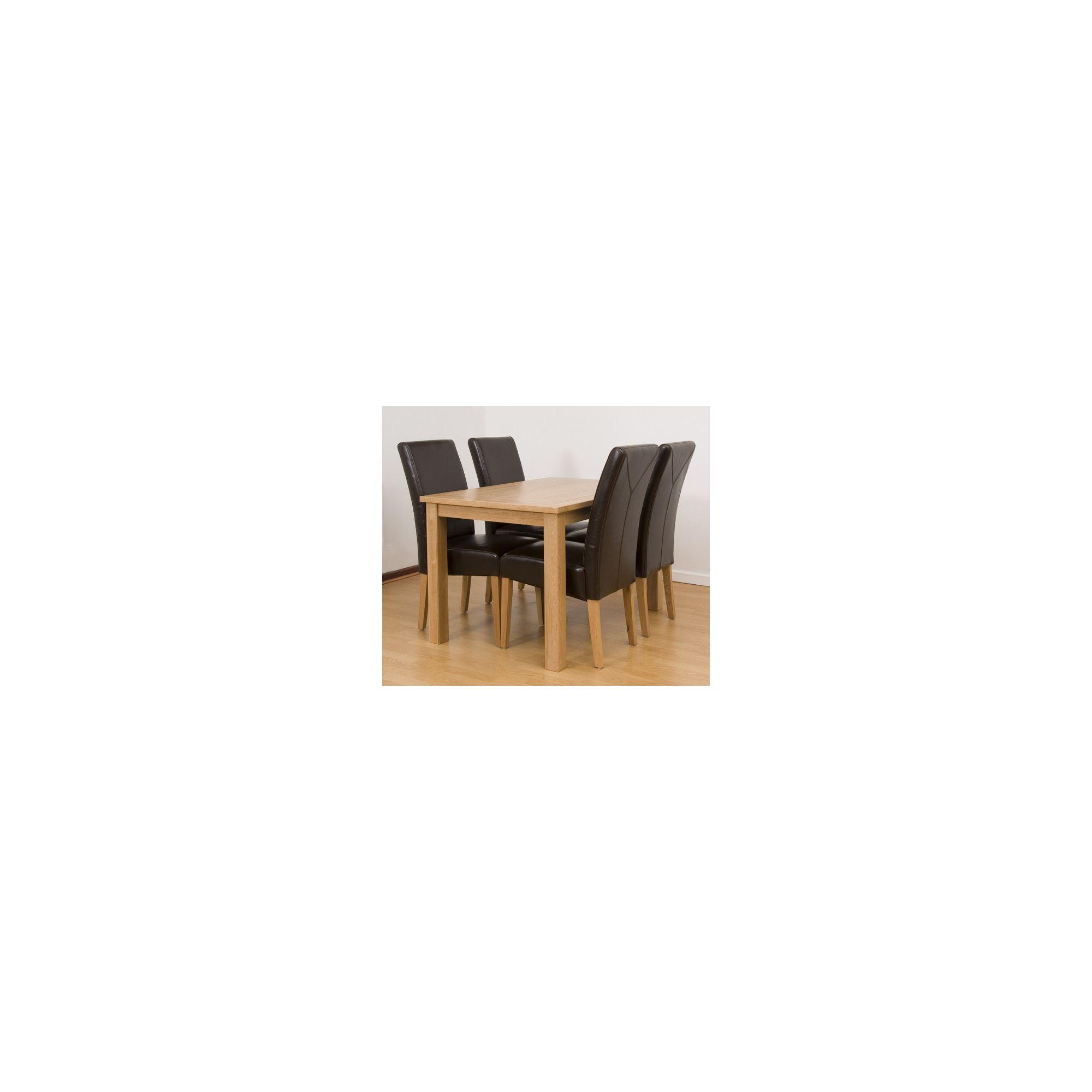 G&P Furniture 5 Piece Rectangular Dining Set at Tesco Direct
