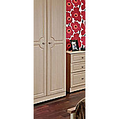 Welcome Furniture Pembroke Plain Wardrobe - Cream - 74 cm W