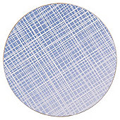 Tesco Blue Round Coaster, 4 Pack