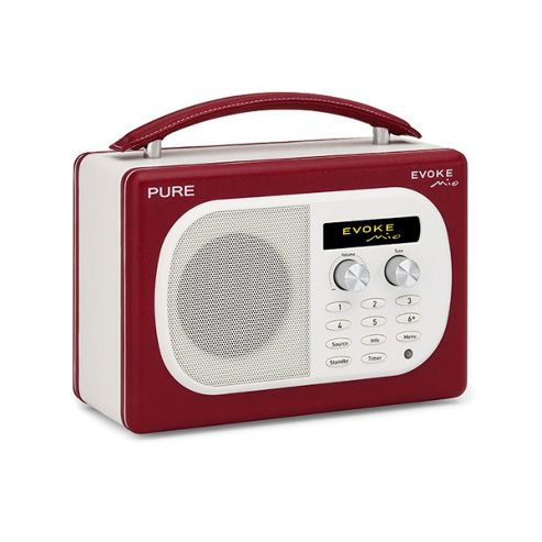 Evoke-Mio DAB/FM Radio in Cherry Leather Effect