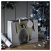 Photographic Penguins Large Christmas Gift Bag