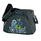 Beaba Ethnic Santiago Grey Flowers Changing Bag