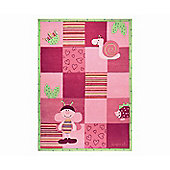 Esprit Bee Pink / Green Kids Rug - 120cm x 180cm
