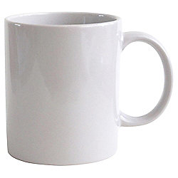 Tesco White Plain Stoneware Mug Single