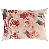 Rose Print Cushion