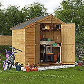 BillyOh Keeper Overlap Apex Wooden Garden Shed - 4 x 8 Windowless
