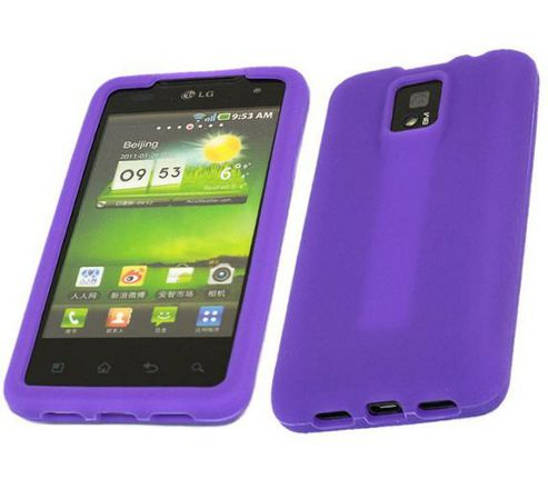iTALKonline SoftSkin Purple Silicone Case - For LG P990 Optimus 2x