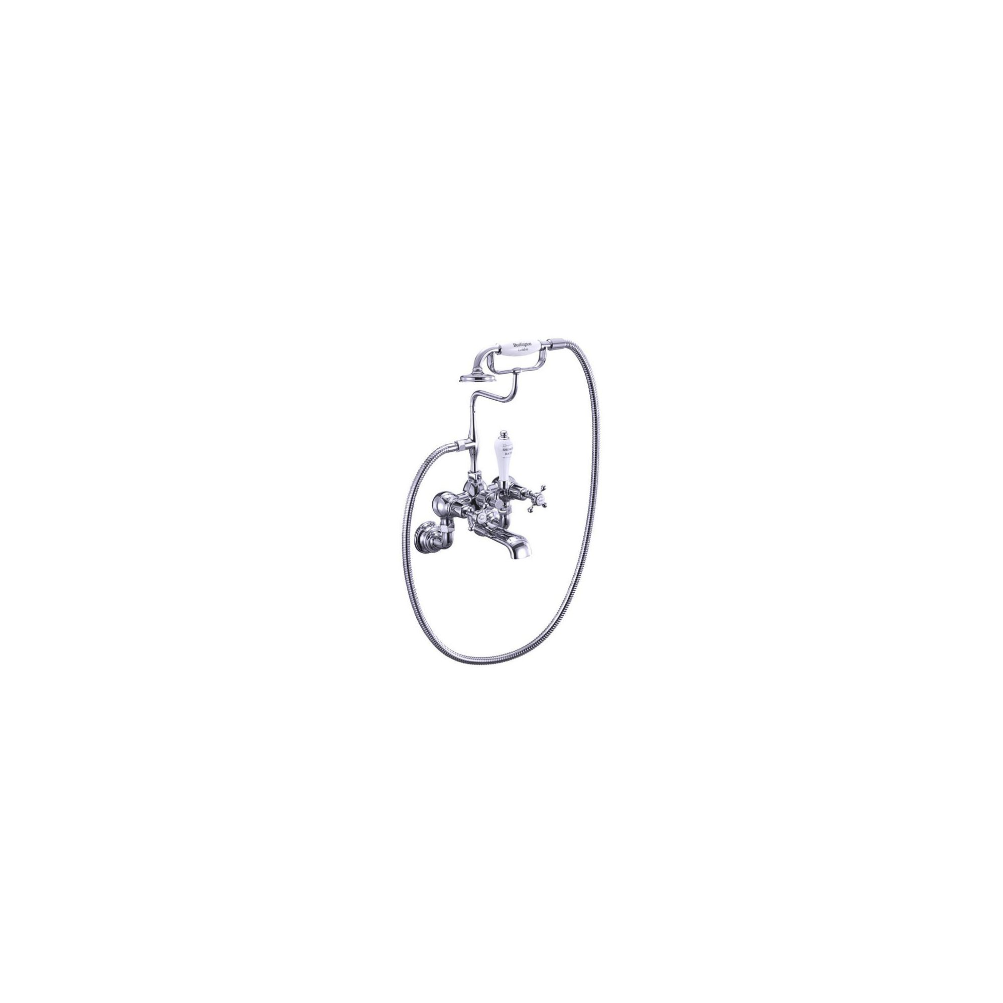 Burlington Claremont Regent Bath Shower Tap, Wall Mounted, Chrome at Tesco Direct