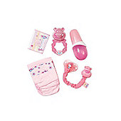 Baby Born High Value Set (Nappies, Food, Rattle, Bottle, Dummy)