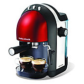 Morphy Richards 172002 Accents Espresso Machine - Red
