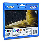 Brother Lc-1100 Multipack Ink Cartridge - Black/Cyan/Magenta/Yellow