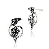 Gemondo Sterling Silver 0.17ct Marcasite Art Nouveau Style Stud Earrings