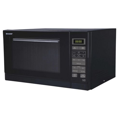Sharp R372km Compact 25l Solo Microwave, Black