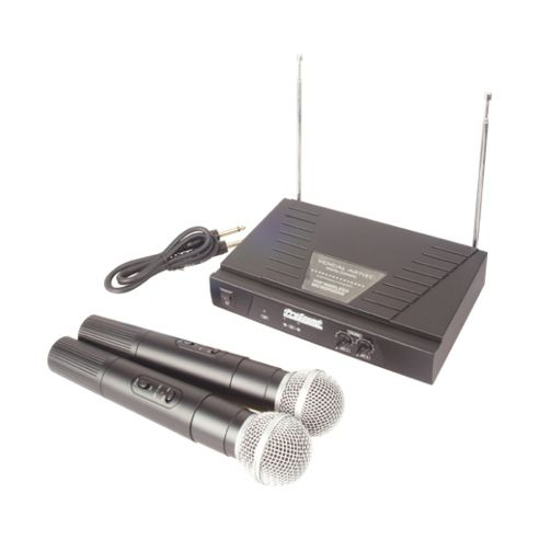 Twin VHF Wireless Handheld Radio Microphone System