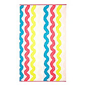 Linea Wiggly Stripe Beach Towel