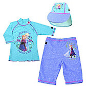 Frozen UV Shirt Shorts and Sun Hat Set 5 to 6 Years
