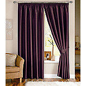 Dreams N Drapes Java Eyelet Lined Curtain - 167.64cm x 182.88cm - Aubergine