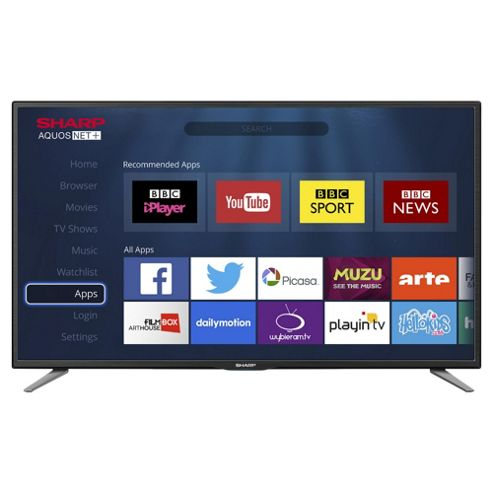 buy sharp lc 32cfe6131k smart full hd 32 inch led tv with. Black Bedroom Furniture Sets. Home Design Ideas