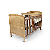 Penelope Cot Bed/Toddler Bed & Foam Safety Mattress & Changer - Country Pine