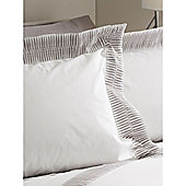 Casa Couture Montagu Grey Oxford Pillowcase In White