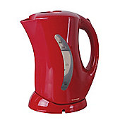Home Essence 1.7 Litre Cordless Kettle with Hinged Lid in Red